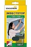 Schellenberg 20409 - Mosquitera, protección anti insectos y moscas para ventanas, color negro