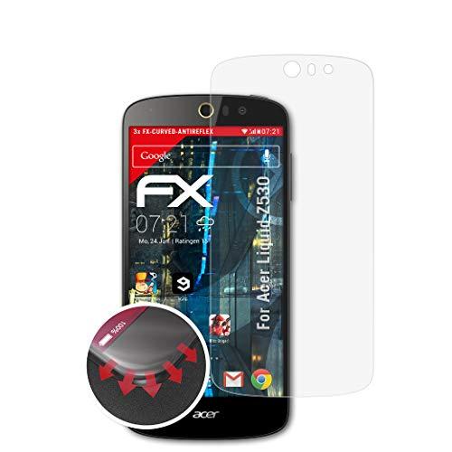 atFolix Schutzfolie kompatibel mit Acer Liquid Z530 Folie, entspiegelnde & Flexible FX Bildschirmschutzfolie (3X)