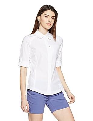 Columbia Women's Silver Ridge Long Sleeve Shirt, X-Large, White