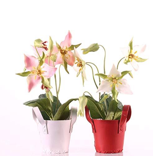 PARC Network - Waldlilie künstlich auf Steckstab, rosa, 40cm, Ø 10-12cm - Seidenblumen - Lilie Deko - Kunstblumen - Künstliche Lilien - Kunstpflanze