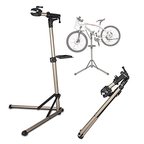 Soporte Bicicletas Estación de Trabajo con Soporte para Reparación de Bicicletas Plegable, Aleación de Aluminio Ligera, Soporte para Mantenimiento de Bicicletas, Capacidad de Soporte de 66 Libras