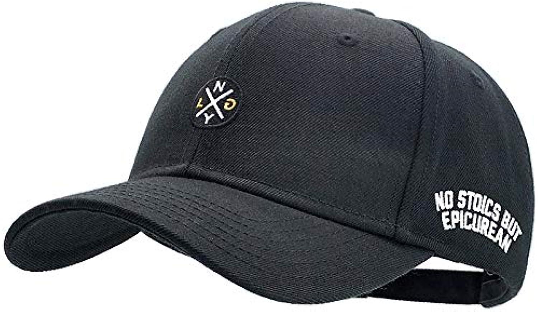 Sykdybz Big Baseball Cap Fashion Bend Along Embroidery Trend Letters Waterproof Letter Baseball Cap Summer Sun Hat