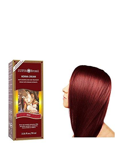 Surya Henna - Traitement et Coloration pour Cheveux - Brasil Cream - Rouge - 70 ml