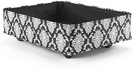 The Lakeside Collection Underbed Rolling Storage Bin for Linens Blankets Sweaters Damask product image