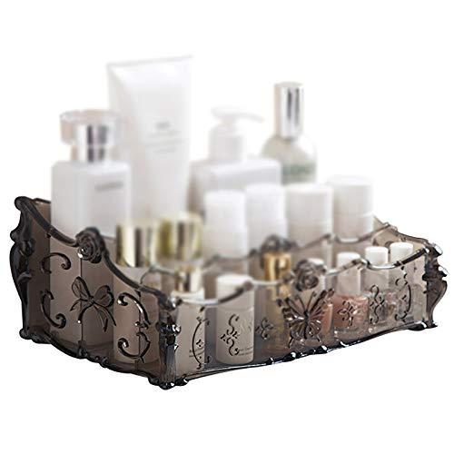 Caja de visualización de almacenamiento cosmético Caja de almacenamiento de escritorio de plástico Productos para el cuidado de la piel Caja de cosméticos Organización del hogar Titular cosmético