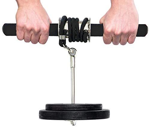 Best Sporting Wrist Roller Unterarmtrainer für Hantelscheiben, inklusive Übungsanleitung (ohne Hantelscheibe)