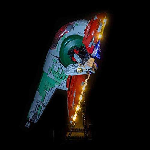 GODNECE LED Licht-Set für Baustein, Led Beleuchtungsset Licht-Set für Baustein Spielzeug Kompatibel Mit Lego Star Wars UCS 75060 Slave Nr. 1 Bausatz (Modell Nicht Enthalten)
