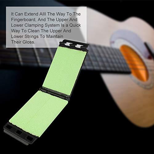 Guitar Fretboard Cleaner, Guitar String Cleaner, Guitar String Scrubber, Fingerboard Cleaning Cloth, Guitar Bass String Scrubber, Cleaning Maintenance Care Kit for Guitar/Bass/Mandolin/Ukulele, 2pc