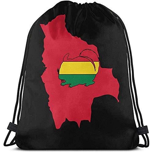 Lemotop Chinchilla Bolivia Casual Mochila con cordón Bolsas Gym Cinch Bag para Viajar en el Gimnasio