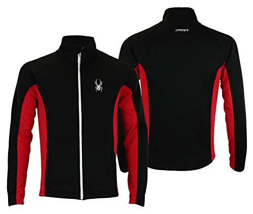 Spyder Mens Full Zip Sweater Multi Blk-Red M