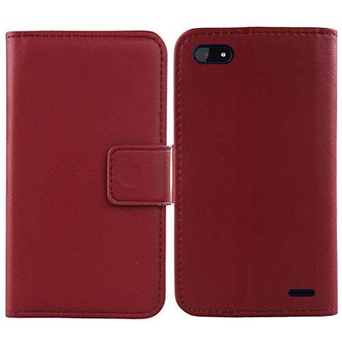 QHTTN Dark Rot Echt Leder Tasche Hülle Für Archos Core 57s 5.72