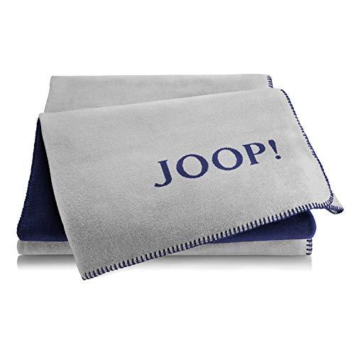 Joop! Plaid Uni-Doubleface | Graphit-Marine - 150 x 200 cm