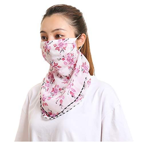 Andouy Kopftuch Bandana Mode Halstuch Stirnband Damen Schlauchtuch Neck Gaiter Gesichtsschutz Kopfbedeckung Halsmanschette Frauen Multifunktionstuch(22X53CM.I)