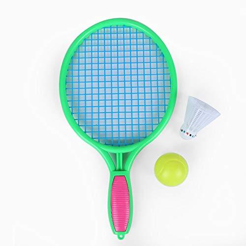 CXD Raqueta de Tenis, Playa Raqueta de Tenis para niños Raqueta de Tenis de Deportes al Aire Libre Raqueta de Tenis (Incluyendo Bola),Verde,1