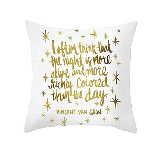 Socoz Funda de cojín para sofá, fundas de almohada de 40 x 40 cm, funda de sofá con frase inglesa de estrellas con purpurina estilo 6