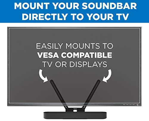 Mount-It! Sound Bar TV Mounting Shelf Compatible with Sonos Beam Speaker | Soundbar Mount Bracket Kit for Televisions with 200mm - 600mm VESA Mounting Pattern
