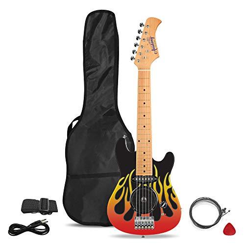 Academy of Music TY6016B - Juego de guitarra eléctrica infantil para principiantes...