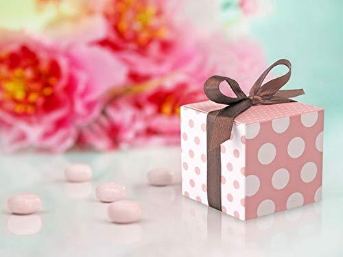 STOCK 10 PEZZI Scatola Scatolina portaconfetti porta confetti rosa a poi