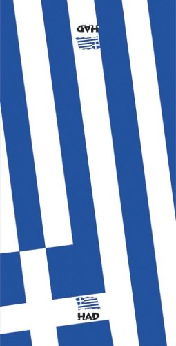 HAD heren original/one size vlag Griekenland multifunctionele doek, wit-blauw