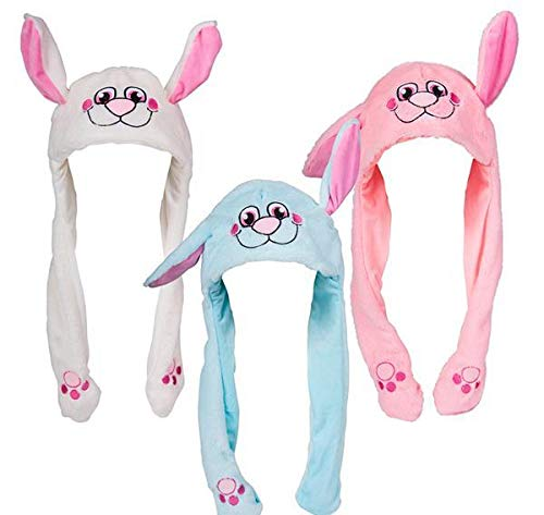 Great Features Of DollarItemDirect Popping Ear Plush Bunny Hat, Case of 36