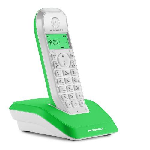 Motorola Startac S1201 DECT Schnurlostelefon (Analog, Freisprechen, ECO-Modus, Displaybleuchtung auf Gerätefarbe abgestimmt) grün