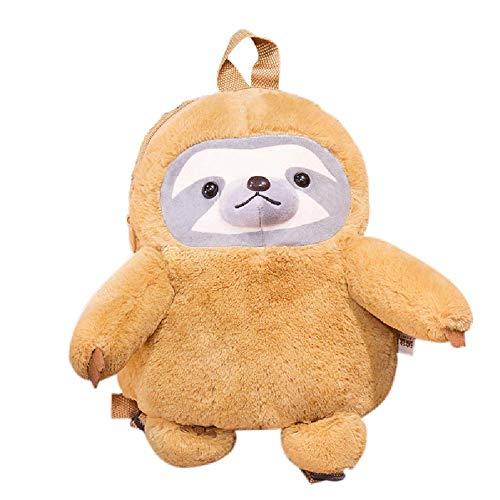 Fluffy Faultier Rucksack Daypack für Kinder, süßer Plüsch-Rucksack für Jungen und Mädchen