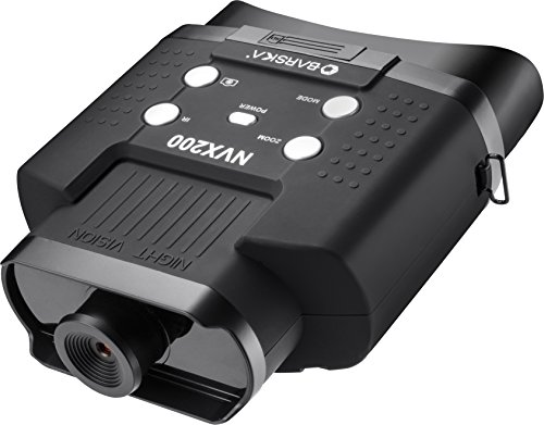 BARSKA NVX Night Vision NVX200 Infrared Illuminator Digital Binoculars, Black - BQ12996
