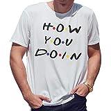 How You Doin Friends Camiseta de Hombre Blanca Size M