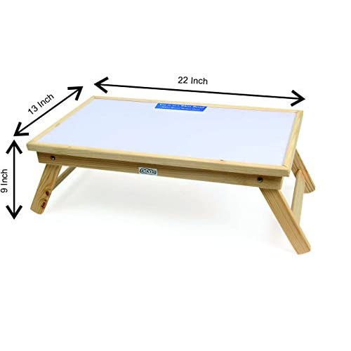Ekta Product Wooden Folding Laptop Table with Whiteboard