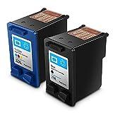 Cartouches d'encre HP 21 22, HP21/22 reconditionnées, à Haut rendement, compatibles...