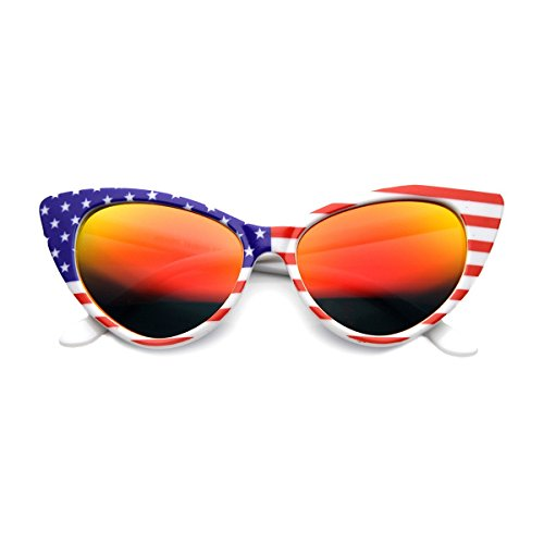 KISS Gafas de sol Cat Eye mod. PRINCESS USA - vintage rockabilly fashion MUJER EMOCIONANTE - ROJO