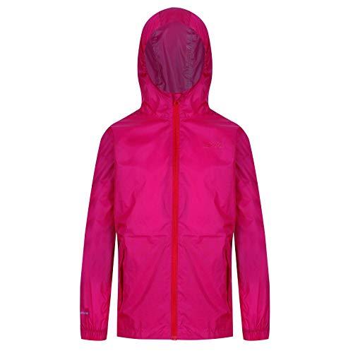 Regatta Ciré Technique et compactable Junior Pack-It Jackets Waterproof Shell Enfant Cabaret FR: 5XL (Taille Fabricant: 15-16)