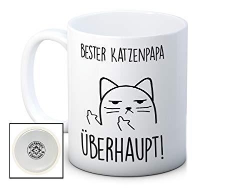 Bester Katzenpapa Überhaupt! - Unhöfliche Katze Cat Mug - Lustig Hochwertigen Kaffeetasse Becher