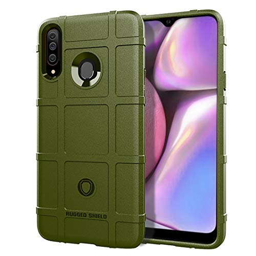 MENGHONGLLI Teléfonos móviles Maletas de Transporte Funda de TPU a Prueba de Golpes de Cobertura Total for Galaxy A20s (Color : Army Green)