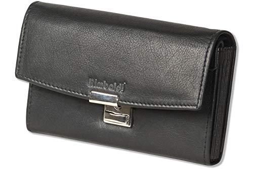 Rimbaldi® Profi Kellnerbörse mit großem Hartgeldfach mit Lederboden aus naturbelassenem, weichem Rinderleder in Schwarz
