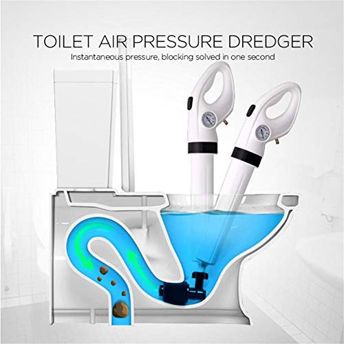 LLVV zuigkap & houder Air Powered Toilet Plunger White Opblaasbare luchtdrukdrainblaster pipeline draairemover toiletbank badkamer zuigapparaten