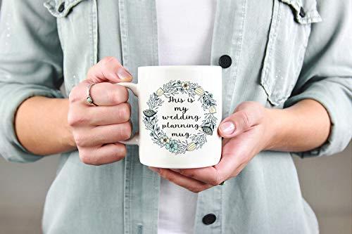 Esta es mi taza de planificación de boda, taza de novia, taza de compromiso, regalo para novia, esposa, regalo para prometida, regalo para prometida, regalo para prometida