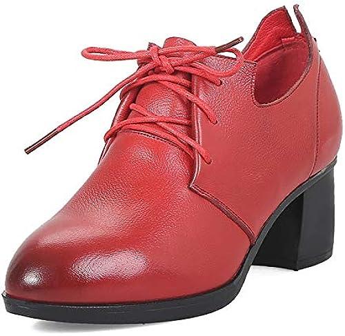 HommesGLTX Talon Aiguille Talons Hauts Sandales 2019 en Cuir Véritable à Lacets Plate-Forme Femmes Chaussures Dame élégant Talons Chunky Confortable Bureau Chaussures Femme Pompes