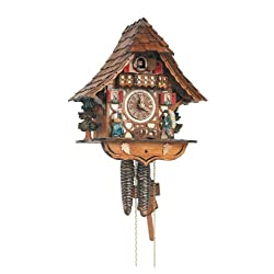 Schneider 12 Inch Black Forest Girl and Clock Peddler 8 Day Movement Cuckoo Clock