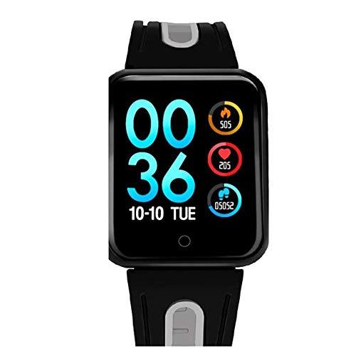 CIGONG Smart-Uhr Sport IP68 Smart Watch P68 Fitness Armband Aktivität Tracker Herzfrequenz-Monitor Blutdruck for Ios Android Frauen Männer Smart-Armband (Color : Silica-Black Gray)