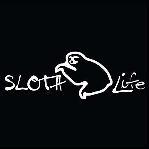 Sloth Life Vinyl Decal Sticker | Cars Trucks Vans SUVs Walls Cups Laptops | 7 Inch Decal | White | KCD2789