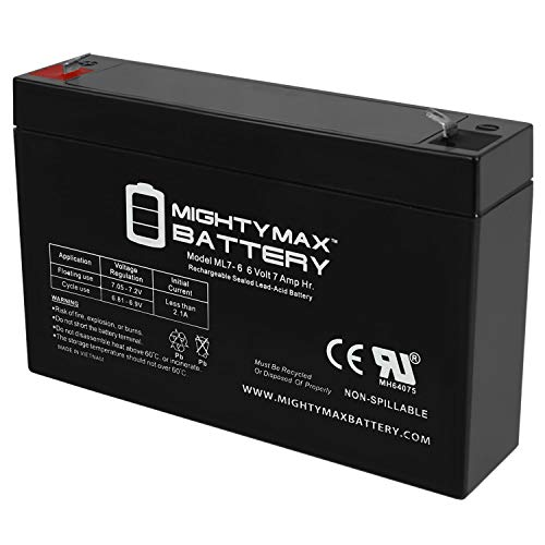 Mighty Max Battery 6V 7Ah SLA Replacement Battery for Long Way LW-3FM7.6 Brand Product