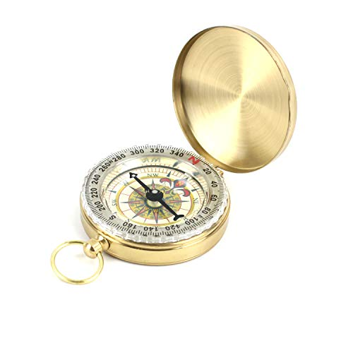 DETUCK(TM Pocket Compass Outdoor Antique Compasses Hiking Hunting Camping Survival Compass Metal Compass Tool (G-12)