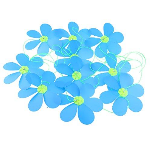 D DOLITY Guirlande Tournesol Fleur Moulin à Vent Fileur Roue Whirligig Moulin à Vent Pelouse Décor - Bleu