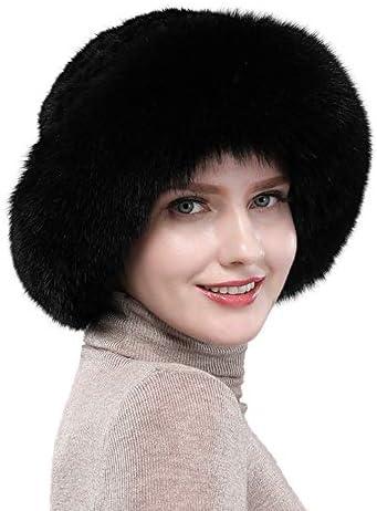 N F N FWomen s Fur Hat Winter Warm Black product image