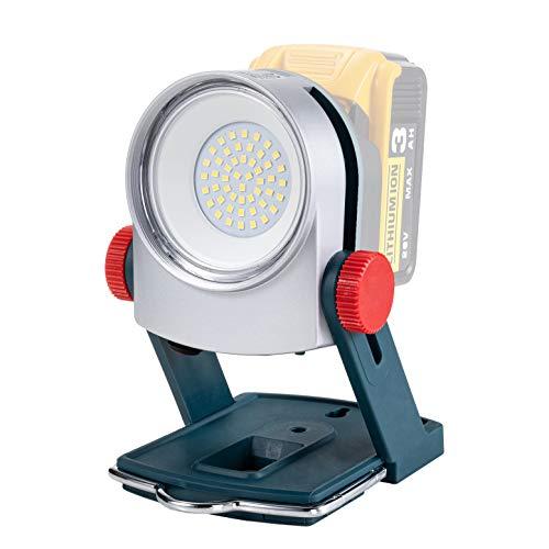 Schnurloses LED-Arbeitslicht für Makita 18V Batterie, funktioniert auch mit Dewalt 18V / 20V 20W 1800LM Tragbares Außenflutlicht für Autoreparatur / Baustelle / Werkstatt / Baustelle / Camping
