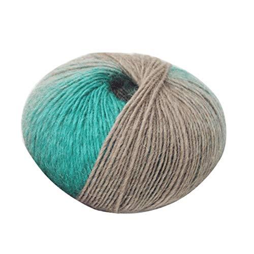 1 Rolle weiche Wolle Crochet Baby-Garn Baby-Knit Wollgarn Multicolor Hand Strickgarn für Knitting Schal Pullover