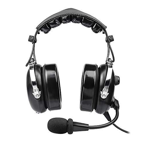 Aviation Headset für Piloten, PNR Aviation Headset, komfortable Ohrdichtungen, passive Geräuschreduzierung, mit Tragetasche
