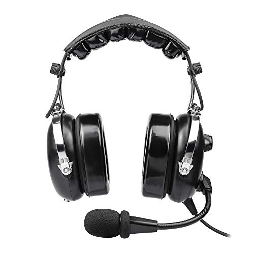 Aviation Headset for Pilots, Aviation Headset with Comfort Ear Seals, 24db Noise Cancelling, MP3 Support and Carrying...