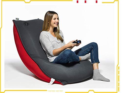 Yogibo Star Wars Bean Bag Chair for Kids, Teens, Plush, Ultra Soft, Star Wars Gaming Chair Bean Bag, Empire Black/Red